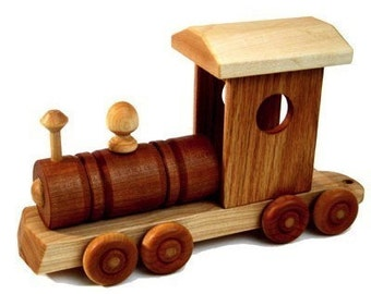 Wooden Train Locomotive