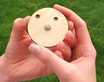 Wood Toy Secret Decoder Disk - Spy Gadget