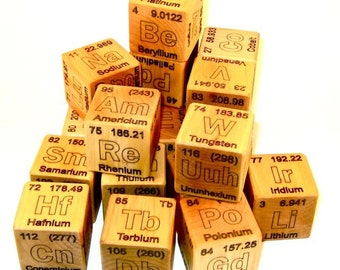 Periodic Table of Elements Wooden Blocks