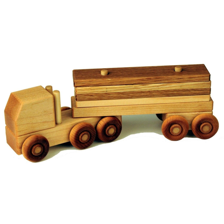 Wooden Semi Truck Lumber Truck by WoodToyShop on Etsy