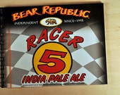 Beer Journal or Blank Notebook - Recycled Bear Republic Race  5 IPA 6-Pack Case Size