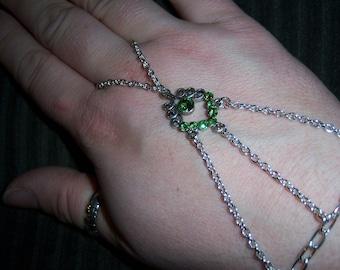 green crystal slave bracelet