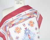 vintage cotton scarf / vintage oversize southwest scarf