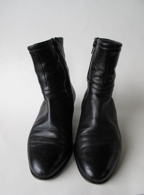 handmade STAMATi MASTROiANNi leather boots . 9.5 (us) . 41 (eu)