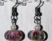 unique dangly pink earrings -G113- free shipping
