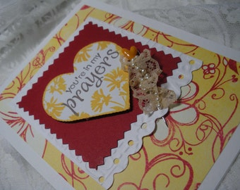 You are in my prayers Handmade Card