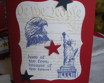 Home of the Free Because of the Brave Handmade Card