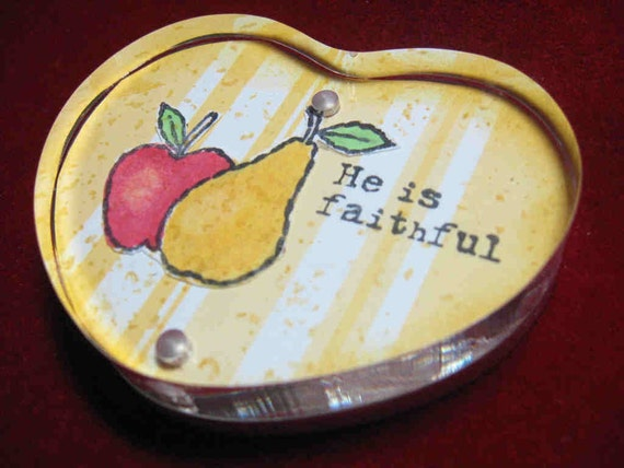 Paper Weights - Apple and  Pear