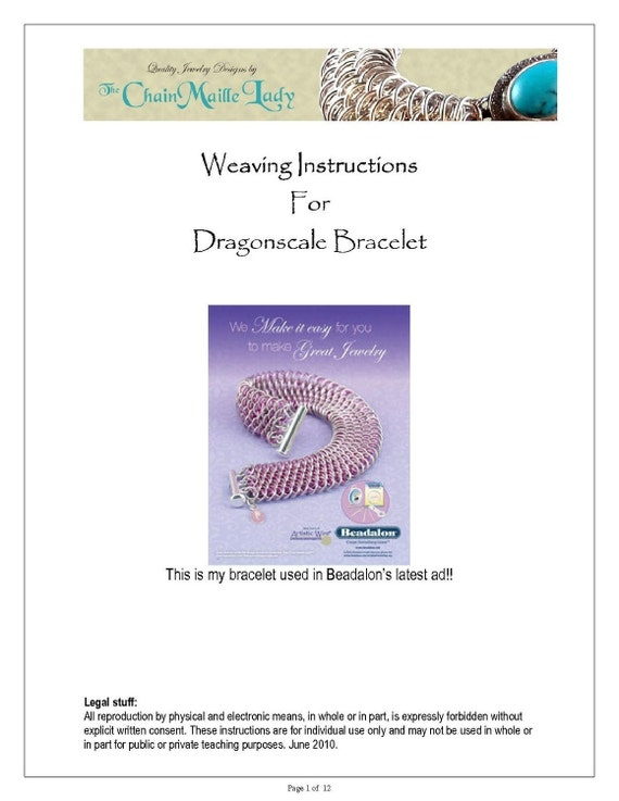 PDF Instructions For The Dragonscale Chainmaille Weave