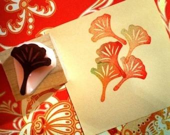 Leaf --- Handmade rubber stamp