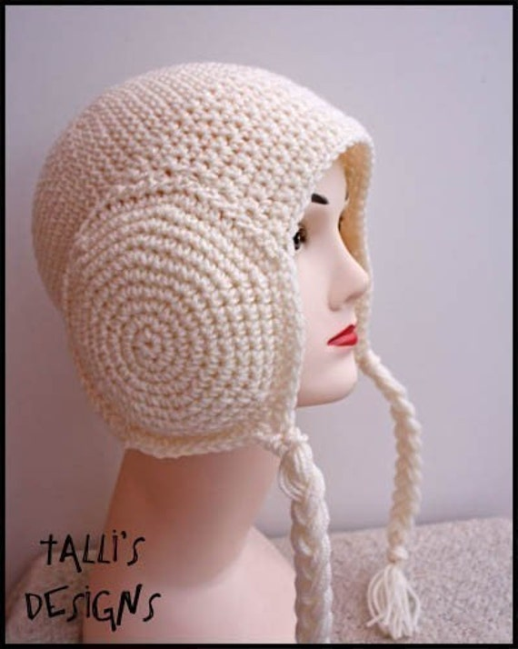 Free Crochet Earmuff Pattern : Items similar to PATTERN - Crochet Leia Earmuffs Beanie ...