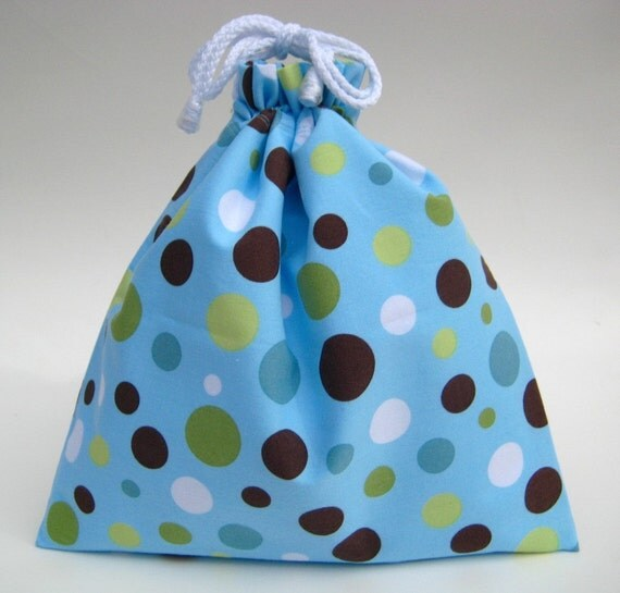 Small Wet Bag in Sky Blue Lolli Polka Dot