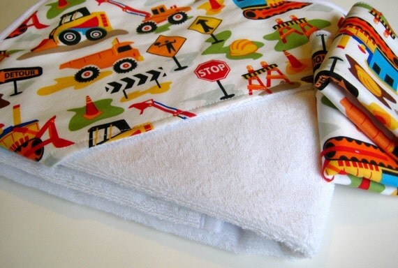 Hooded Towel in Dig It Trucks and Tractors featured on Parents.com
