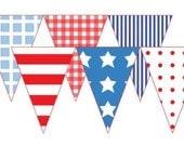 Printable DIY Patriotic Pennant Banner