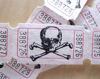 Poison Tickets - Planners, Snail Mail, Embellishmets, Project Life, Art Journaling, Card Making