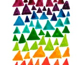 Triangle pattern note card Rainbow colours