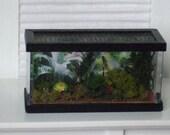 Dollhouse Miniature Green Tree Frog Terrarium Vivarium - 1/12th Scale
