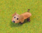 Dollhouse Miniature Outdoor Decor Dog Sculpture - 1/12th Scale