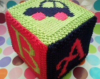 Knitting Pattern With Car Motif : PDF Knitting Pattern Car motif afghan / blanket by FionaKelly