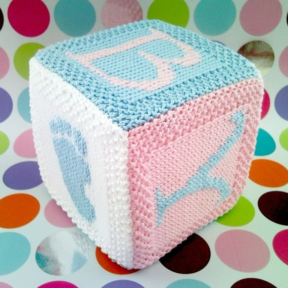 PDF Knitting pattern Baby cube toy with hand and by FionaKelly