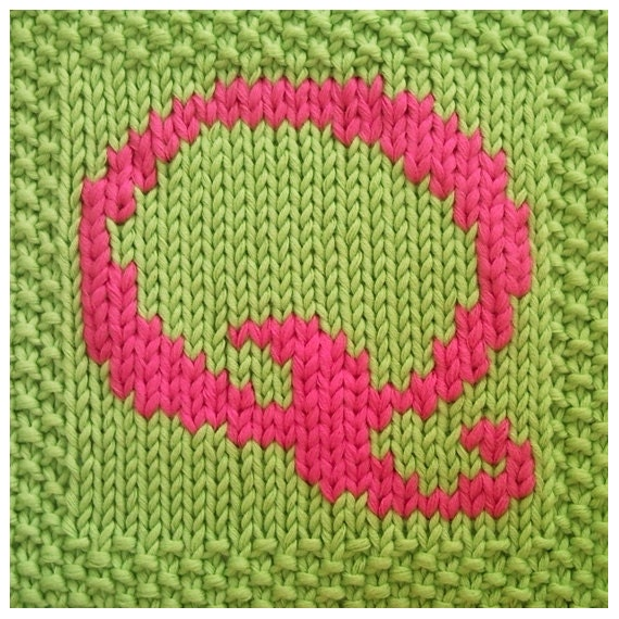 Knitting Letters Into Squares : Pdf knitting pattern capital letter q afghan by fionakelly