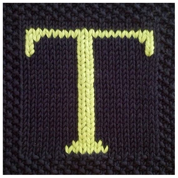 Knitting Letters Into Squares : Pdf knitting pattern capital letter t afghan by fionakelly