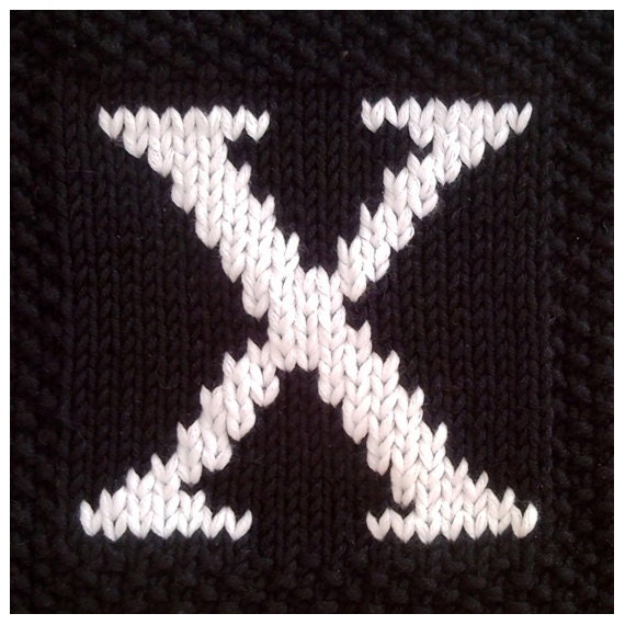 Knitting Letters Into Squares : Pdf knitting pattern capital letter afghan by fionakelly