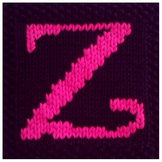 Knitting Letters Into Squares : Pdf knitting pattern capital letter z afghan by fionakelly