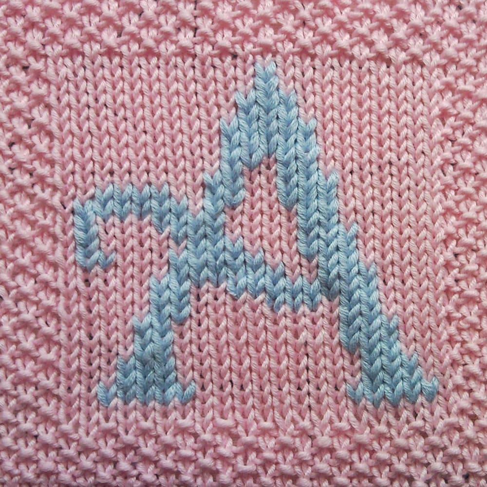 Knitting Pattern Capital Letters : PDF Knitting pattern capital letter A afghan / by FionaKelly