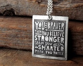 You are braver than you believe necklace