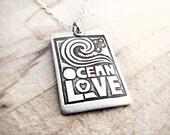Ocean love necklace, silver