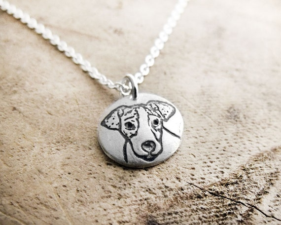 Tiny Jack Russell necklace, silver dog  jewelry, Jack Russell jewelry