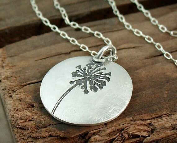 Little dandelion wish necklace