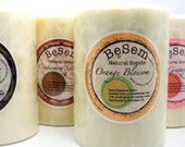 3 Pack Pillar Combo natural palm/beeswax candles, essential oil blends