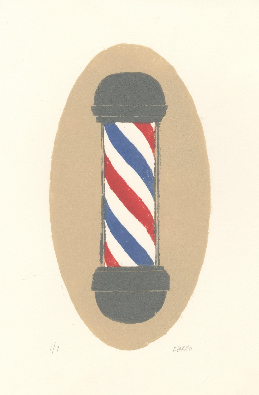 Barber Pole Drawing ~ Tuny for