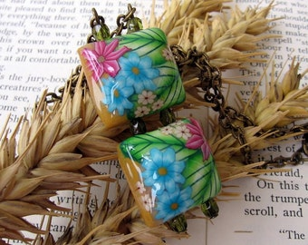 Summer Garden - Polymer Clay Necklace