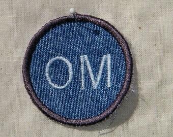 OM  Iron on Patch / Merit Badge