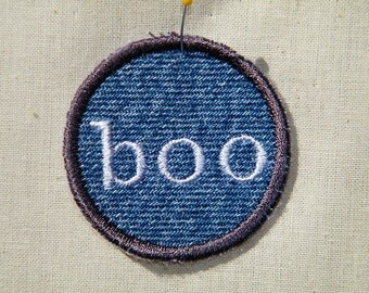 Boo Ghost Halloween Patch / Merit Badge