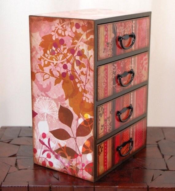 Pink Stripes and Polka Dots Storage Dresser Box