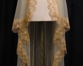 Waltz Length Gold Mantilla - One Of A Kind- RESERVED FOR MARIE1217