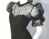 VICTORIAN Inspired Vintage STEAMPUNK PINUP Gothic Lace Blouse L