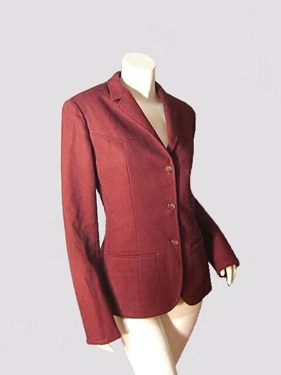 Slim Fit Vintage 70's PENDLETON Women's Western Wool Jacket S