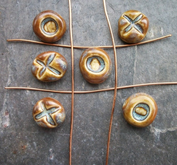 Tic Tac Toe...Ceramic Beads