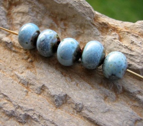 Tumblin'.... enameled copper beads