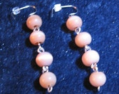 Set - Caramel Cat's Eye 9 inch Bracelet and Dangle Earrings