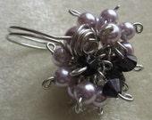 SALE - Set - Purple Royale Ring Size 10, Dangle Earrings