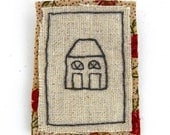 urban cottage brooch hand embroidered pin city theme