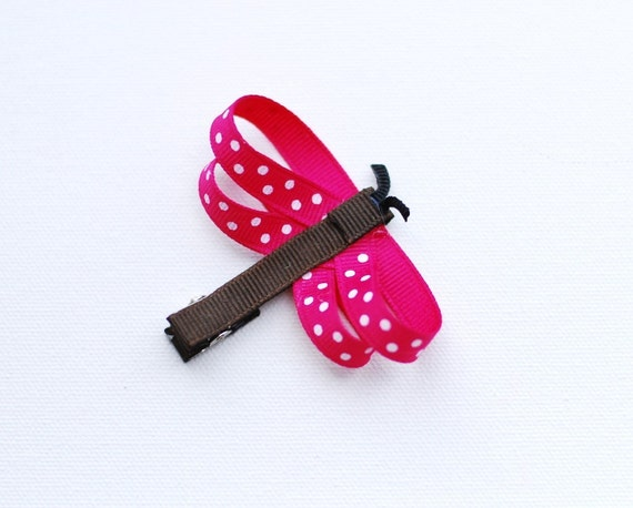 Dragonfly Hair Clip Can Be Customized With Your Color Choice
