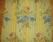 Pindler Floral Check Merrimont Lampas Designer Fabric Sample Embroidered Centered
