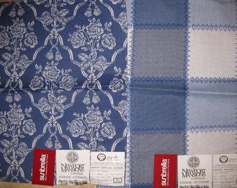 Blue White Outdoor Newport Pindler Designer Fabric Lot Samples Coordinated Sunbrella Charente Almy